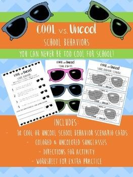 Cool or Uncool School Behaviors - Fun Way to Teach School Appropriate Behaviors