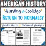 Coolidge & Harding -- Return to Normalcy