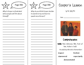 Cooper's Lesson Trifold - Into Reading 4th Grade Module 10 Week 3