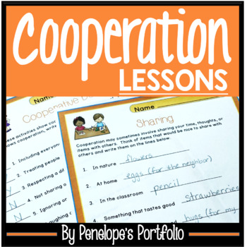 COOPERATION Character Education Packet