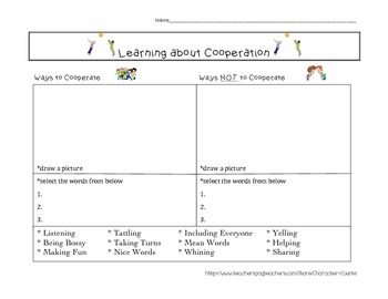 Cooperation Activity and sort