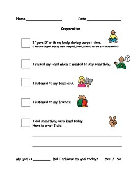 Cooperation Behaviour Checklist