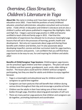 FREE Cooperation Child/Caregiver Yoga Lesson Plan
