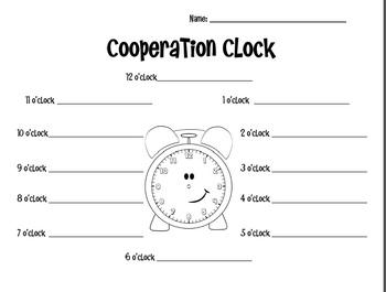 Cooperation Clock Graphic Organizer