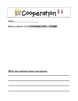 Cooperation Lesson Activity