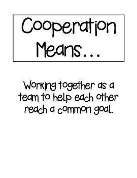 Cooperation Lesson Visuals