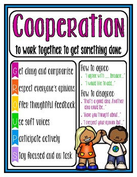 Cooperation Poster (Adapted from Open Circle)