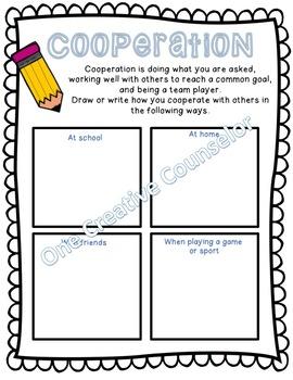Cooperation Printable Worksheet
