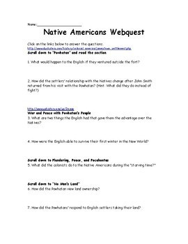 Native American Webquest