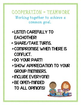 Cooperation/Group Work Sign