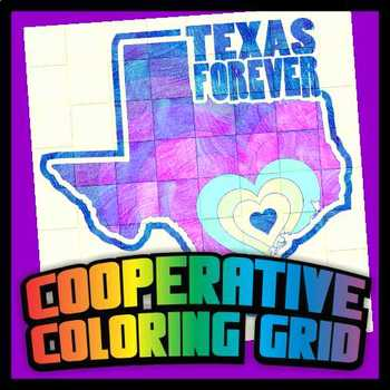 Cooperative Coloring Poster - Texas Forever