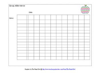 Cooperative Group Attendance Sheet
