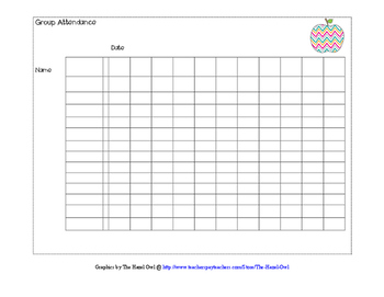 Cooperative Group Attendance Sheet