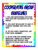 Cooperative Group Guidelines Poster