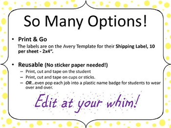Cooperative Group Job Stickers - Editable to meet your needs.