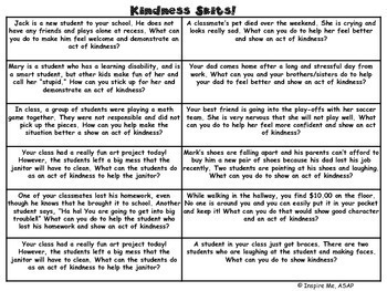 Social and Emotional Learning: Cooperative Group Kindness Skits