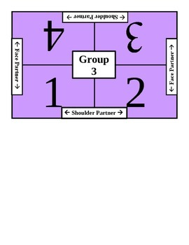 Cooperative Group Placemats