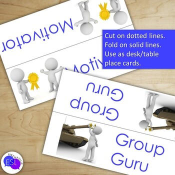 Cooperative Group Role Cards