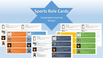 Cooperative Group Role/Task Cards-- Sports Themed--Free