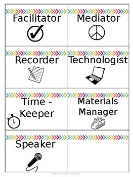 Cooperative Group Roles Badge Set