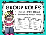 Cooperative Group Roles Poster Set and Desk Plates