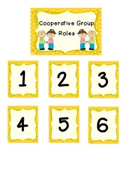 Cooperative Group Roles and Signs
