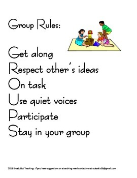 Cooperative Group Rules and Roles
