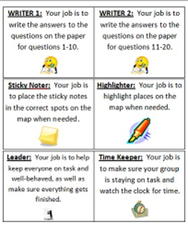 Cooperative Grouping Map Scavenger Hunt