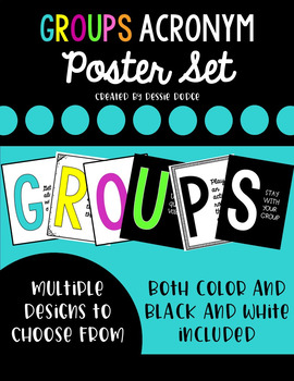 Cooperative Groups Acronym Posters Set