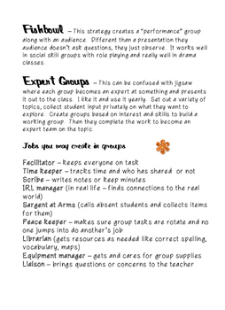 Cooperative Groups Secondary Level