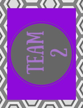 Table Numbers:Cooperative Groups Team Signs