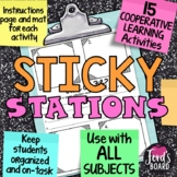 Cooperative Learning Activities - Sticky Stations