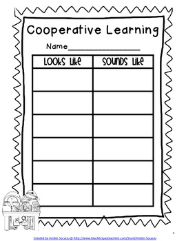 Cooperative Learning Anchor Charts Freebie
