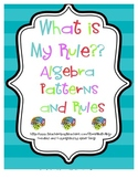 Cooperative Learning Cards Algebra - Rules for Patterns