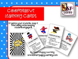 Cooperative Learning Cards - Superhero theme