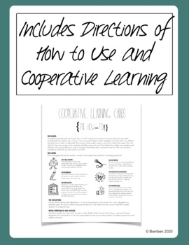 Cooperative Learning Cards and Reflection Sheets for Group Work