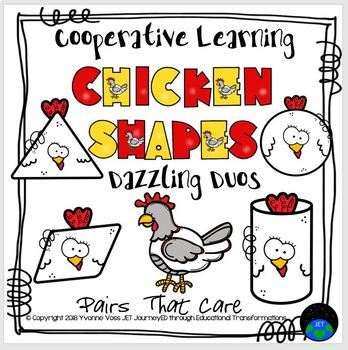 Cooperative Learning Dazzling Duos Pairs That Care Chicken Shapes