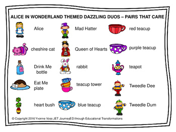 Cooperative Learning Dazzling Duos Pairs that Care Alice in Wonderland Themed