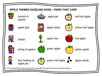 Cooperative Learning Dazzling Duos Pairs that Care Apple Themed