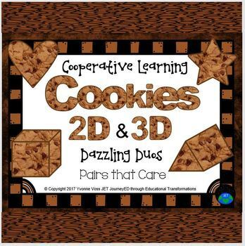 Cooperative Learning Dazzling Duos Pairs that Care Chocolate Chips Cookie Shapes