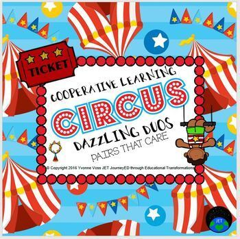 Cooperative Learning Dazzling Duos Pairs that Care Circus Themed