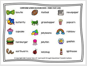 Cooperative Learning Dazzling Duos Pairs that Care Compound Words