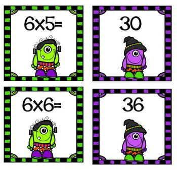 Cooperative Learning Dazzling Duos Pairs that Care Halloween Boo Multiplication