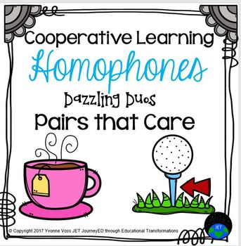 Cooperative Learning Dazzling Duos Pairs that Care Homophones