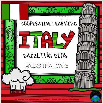Cooperative Learning Dazzling Duos Pairs that Care Italy Themed