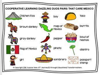 Cooperative Learning Dazzling Duos Pairs that Care Mexico Themed