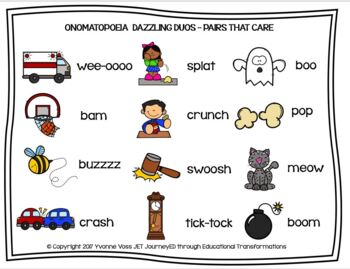 Cooperative Learning Dazzling Duos Pairs that Care Onomatopoeia
