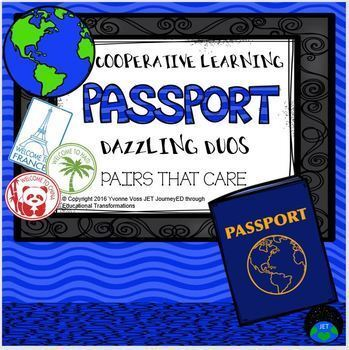 Cooperative Learning Dazzling Duos Pairs that Care Passport Themed