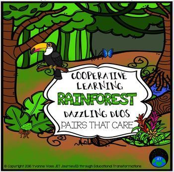 Cooperative Learning Dazzling Duos Pairs that Care Rainforest Themed