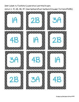 Cooperative Learning Desk Labels